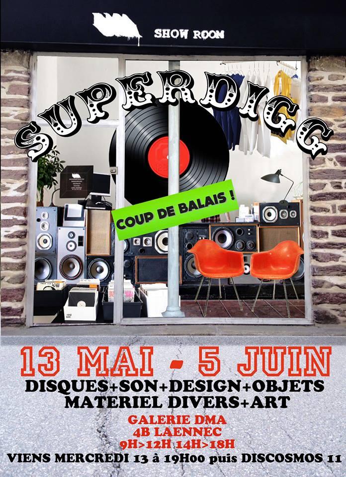 SUPERDIGG DISQUES & DESIGN DMA GALERIE 11/05/15 > 05/06/15