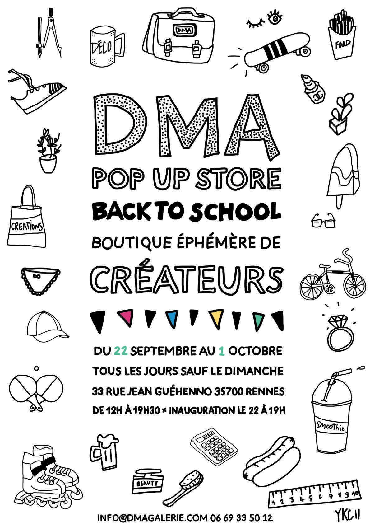 DMA pop up store « Back to school » > prolongation jusqu'au 7/10