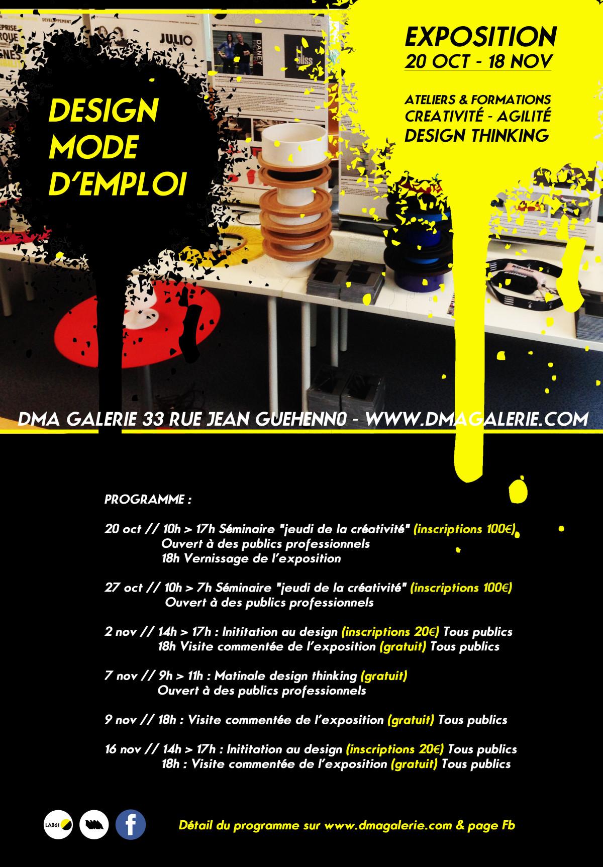 DESIGN MODE D'EMPLOI 20/10/16 > 18/11/16
