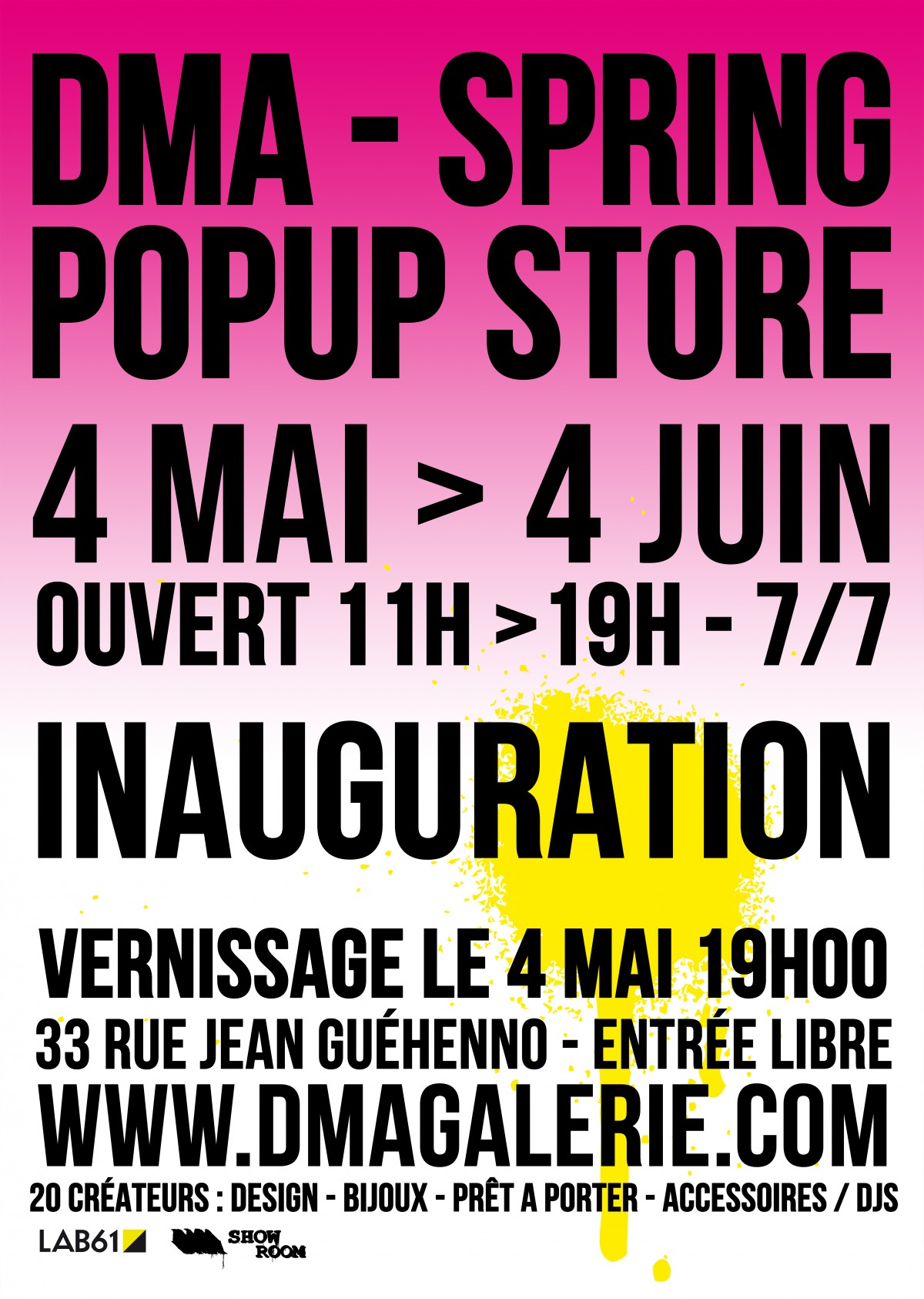 SPRING POP UP STORE 04-05/16>04-06/16