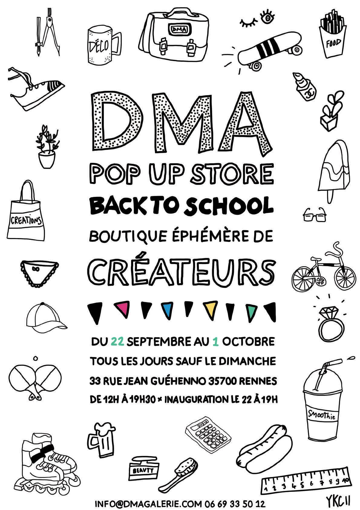 DMA pop up store «Back to school» > prolongation jusqu'au 7/10
