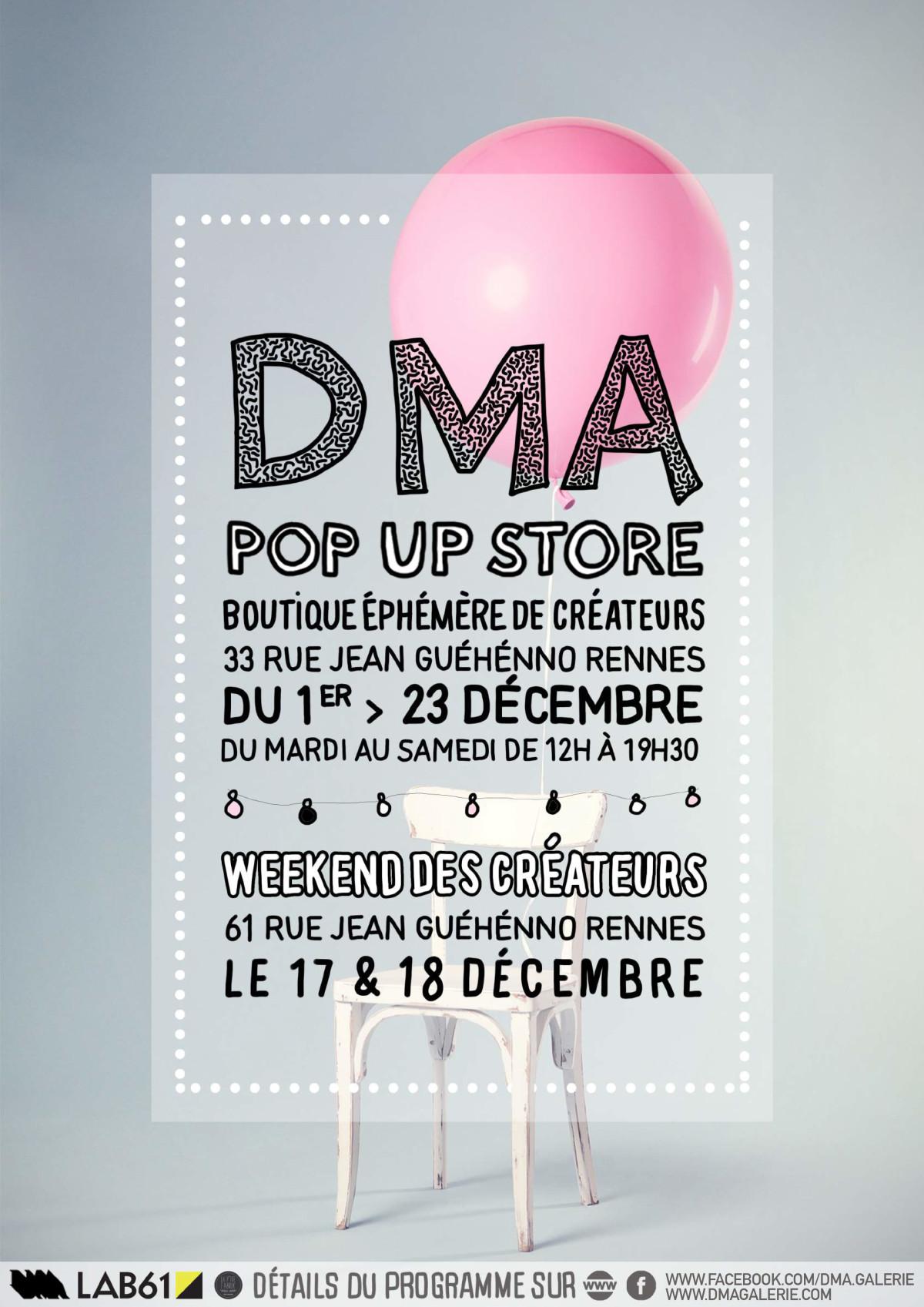 DMA POP UP STORE édition de Noël 1er > 23 Décembre
